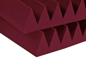 Auralex Studiofoam Wedge - Twelve 2 Inch 2x2 Foot Panels - Burgendy