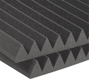 Auralex Studiofoam Wedge - Twelve 2 Inch, 2x2 Foot Panels - Charcoal [2SF22CHA-HP F]
