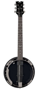 Dean Backwoods 6 Banjo w/ Pickup Black Chrome [BW6E BC]