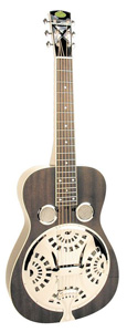 Regal RD52 Black Lightning Squareneck Dobro Guitar