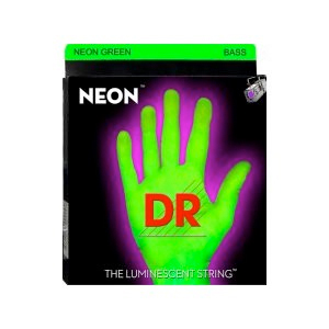 DR NGB-45 Neon Phosphorescent Bass Strings - Green