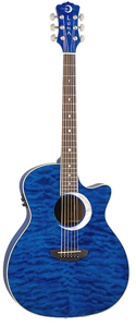 Luna Guitars Fauna Eclipse Trans Blue