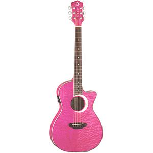 Luna Guitars Fauna Eclipse Trans Pink