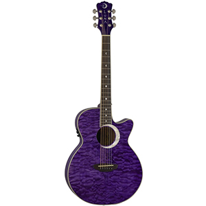 Luna Guitars Fauna Eclipse Trans Purple