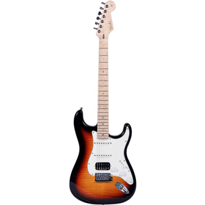 Fender Custom Deluxe Stratocaster® Faded 3-Color Sunburst [1509932865]