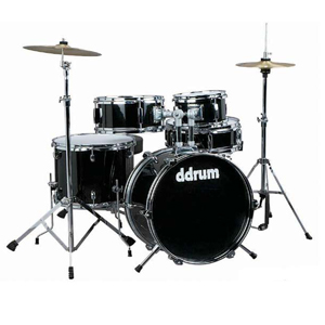 Ddrums D1 Junior Drum Set - Midnight Black [D1MB]