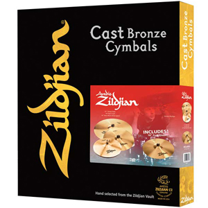 Zildjian A Zildjian 4-Pack Cast Bronze Cymbals Matched Promo Box Set