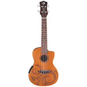 Luna Guitars Tattoo Concert Acoustic-Electric Ukulele