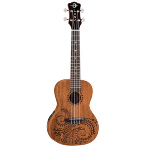Luna Guitars Tattoo Concert Acoustic-Electric Ukulele [UKE TEC MAH]
