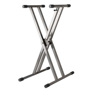 Double X-Brace Keyboard Stand - Gunmetal