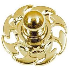 Metal Series Straplock Gold Fire Wheel