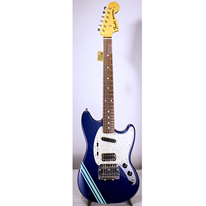 Fender Kurt Cobain Mustang Dark Lake Placid Blue with Stripe [ 0251401502]