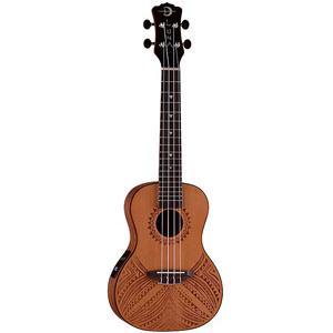 Luna Guitars Concert Ukulele Tapa Cedar