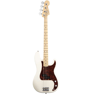 American Standard P Bass - Olympic White with Case - Maple