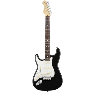 American Standard Stratocaster Left Handed - Black with Case - Rosewood