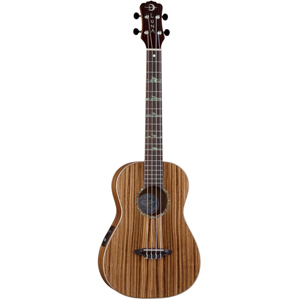 Luna Guitars High Tide Series Zebrawood Baritone Acoustic-Electric Ukulele