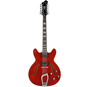 Hagstrom Viking Deluxe 12 Wild Cherry Transparent