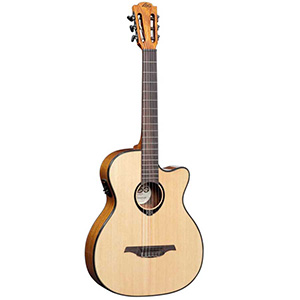 Lag Auditorium Cutaway Nylon 6-String Acoustic-Electric Guitar [TN66ACE]