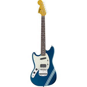 Kurt Cobain Mustang Left-Handed Dark Lake Placid Blue with Stripe