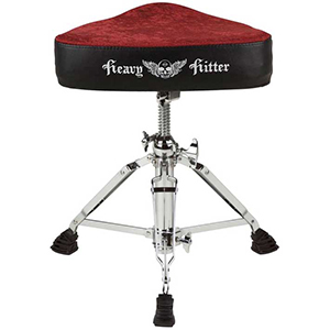 Ddrums Heavy Hitter Motorcycle Red Velvet Throne [DHHTMSRV]