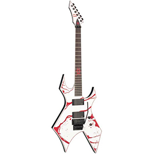 BC Rich Joey Jordison Signature Warlock White w/ Blood Splatter [JJSWBS]