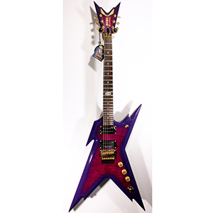 Dean DCR Razorback Blacktooth Trans Purple [DCR RZR BT]