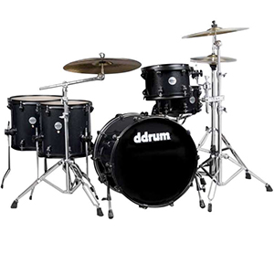 Ddrums Journeyman Double Down 22 Midnight Black [JMDD722 MB]