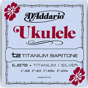 EJ87B Titanium Ukulele Baritone Strings