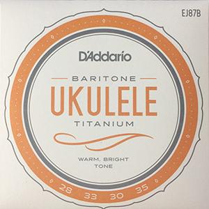 Daddario EJ87B Titanium Baritone  Ukulele Strings