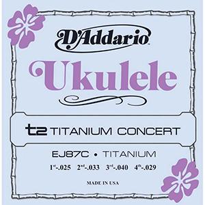 Daddario EJ87C Titanium Ukulele Strings Concert