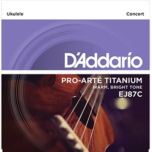 Daddario EJ87C Titanium Concert Ukulele Strings