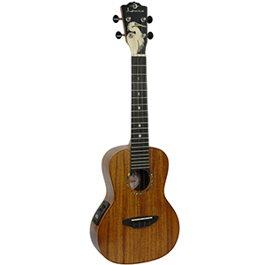 Luna Guitars Egret Acoustic Electric Ukulele Concert