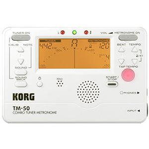 Korg TM50 Pearl White