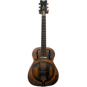 Dean One-Of-A-Kind Heirloom Island Resonator - Engraved Distressed Copper []