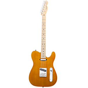 Select Flame Maple Carved Top Telecaster Amber