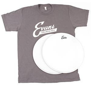 Vintage Pack Vintage Script Logo Drumhead & T-Shirt