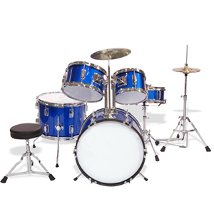 WJM Percussion 5-Piece Junior Drum Set Blue []
