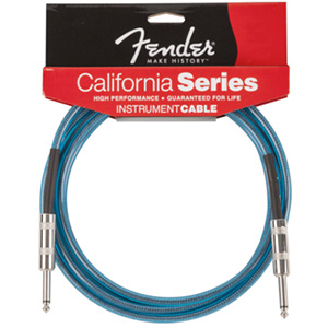 Fender California Cable 10 Foot Lake Placid Blue [0990510002]