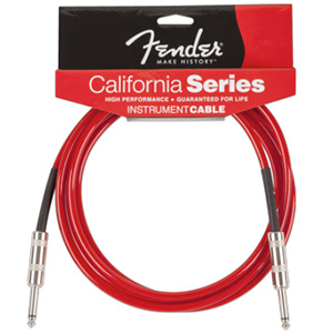 Fender California Cables 10 ft Candy Apple Red