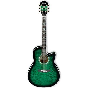 Ibanez AEF37ETES Transparent Emerald Sunburst [AEF37ETES]