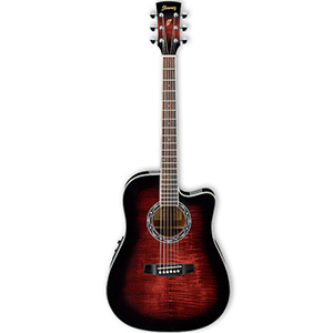 Ibanez PF28ECE Transparent Red Sunburst [PF28ECETRS]
