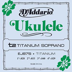 Daddario EJ87S Titanium Soprano Ukulele Strings