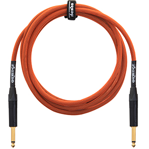 Orange 10 ft Woven Instrument Cable [CA-JJ-STIN-OR-10]