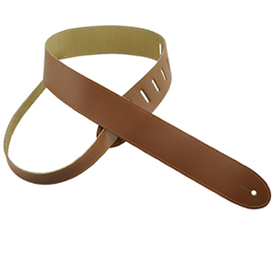 Henry Heller Basic Leather Guitar Strap Tan with Tan Stitch