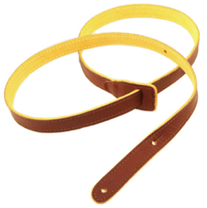 Capri Leather Mandolin Strap Brown