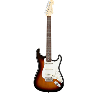 American Standard Stratocaster 3-Color Sunburst with Case - Rosewood