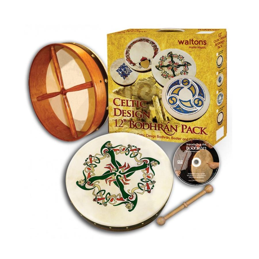 Waltons 12-inch Clonmacnoise Bodhran Pack