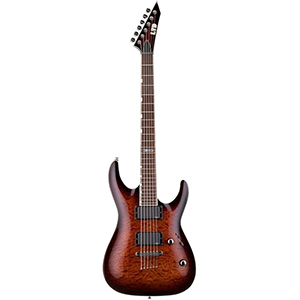 ESP LTD MH-350NT Dark Brown Sunburst - Left Handed [MH-350NT DBSB LH]