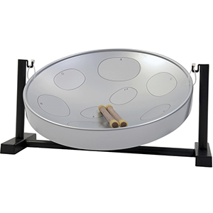 Jumbie Jam Steel Drum Table Top Kit - Silver