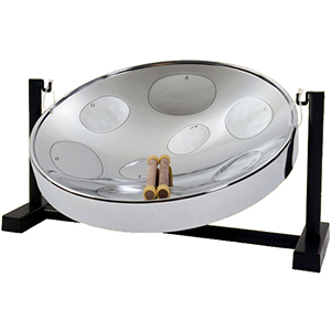 Jumbie Jam Steel Drum Table Top Kit - Chrome